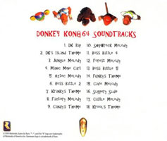 DK64 soundtrack by Media Play back cover